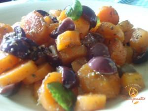 Insalata speziata di carote lesse