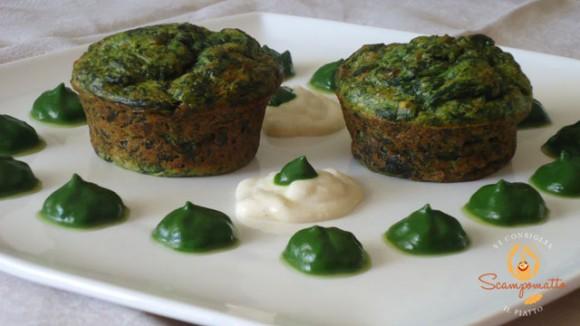 Souflè di spinaci