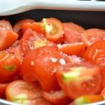 Paccheri con pomodoro e rucola