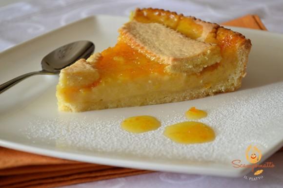 Crostata con crema al limone e marmellata di arance