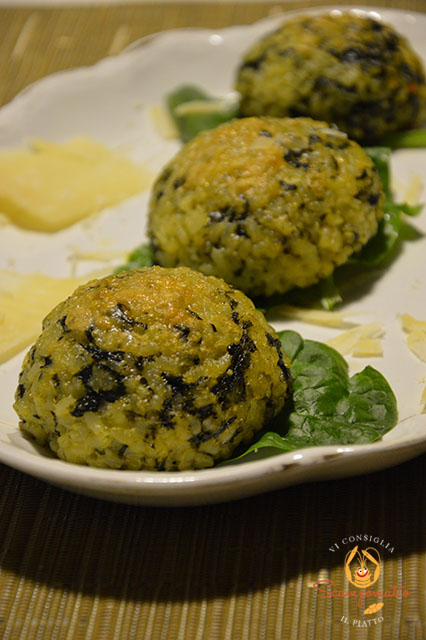 Suppli di spinaci