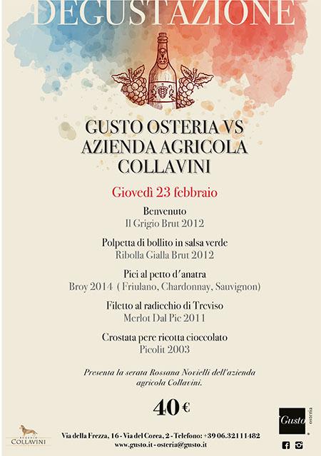 Gusto Osteria VS Degustazione Azienda Agricola Collavini