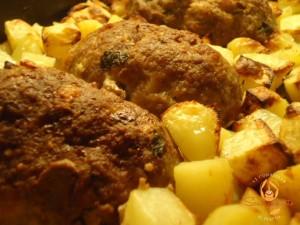 Polpettone con le patate al forno
