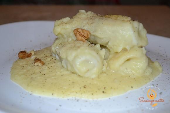 Involtini di platessa in crema di patate